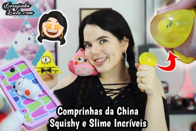 Recebidos / Compras da China - Squishy e Slime Baratos - Promoção Newchic