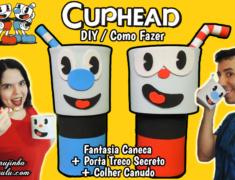 Diy Games – Cuphead – Como Fazer Fantasias para Canecas + Porta Treco Secreto | Corujices da Lu