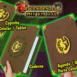 Diy Disney Descendentes 2 – Como Fazer Kit Mal com Capinha + Caderno + Agenda / Diário com Porta Celular Secreto do Livro de Feitiços | Corujices da Lu