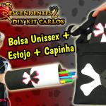 Diy Disney Descendentes 2 – Como Fazer Kit Carlos De Vil com Capinha de Celular + Estojo + Bolsa Unissex | Corujices da Lu