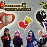 Diy Disney Descendentes 2 – Como Fazer Kit Amizade com Chaveiro + Brinco + Colar da Amizade e Mais | Corujices da Lu