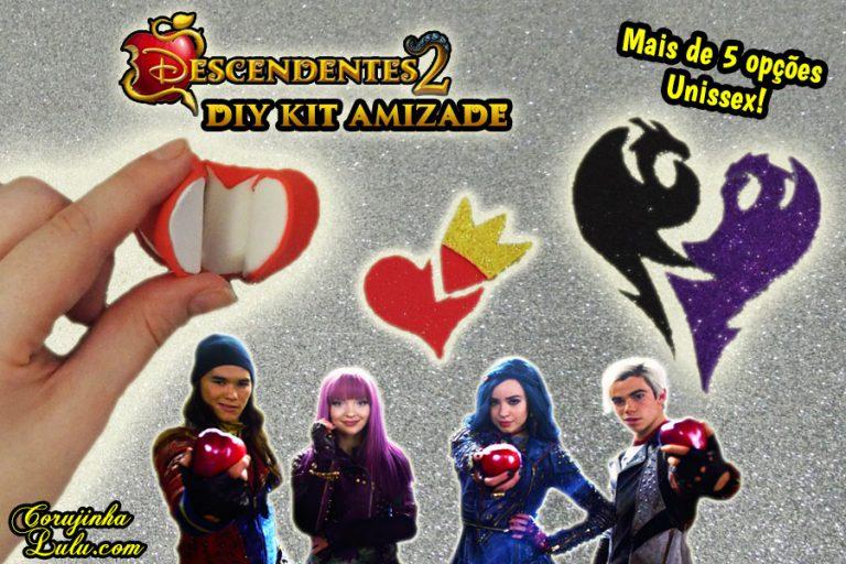 Diy Disney Descendentes 2 - Como Fazer Kit Amizade com Chaveiro + Brinco + Colar da Amizade e Mais | Corujices da Lu