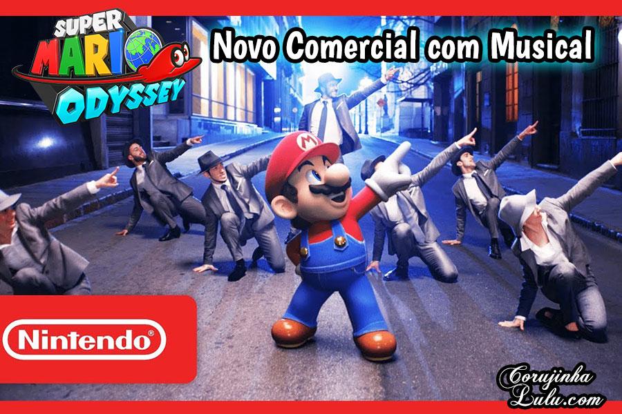 Novo comercial de Super Mario Odyssey tem musical à la New York | ©CorujinhaLulu.com game videogame nintendo switch encanador dançarino dança nova iorque jogo novidade