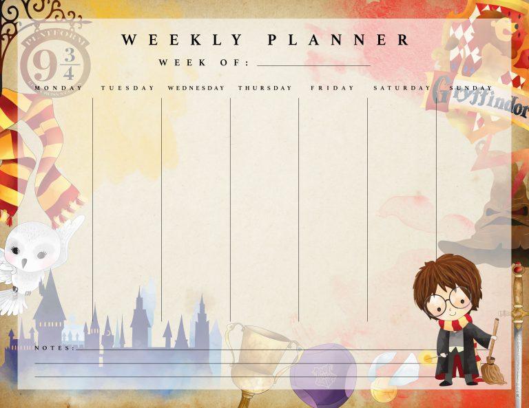 Planner E Calendario 2018 De Harry Potter Gratuito