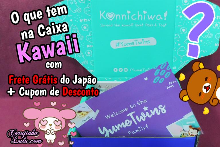 O que tem na Caixa Kawaii YumeTwins + Desconto e Frete Grátis diretamente do Japão