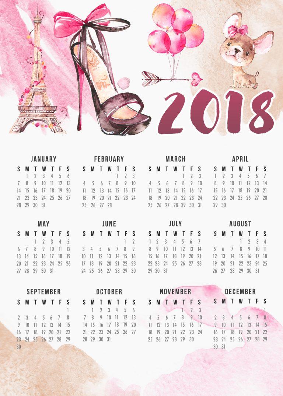 Calendário 2018 Grátis de Paris / França em homenagem a Miraculous Ladybug | ©CorujinhaLulu.com aquarela ilustração pop cultura planner corujinha lulu corujinhalulu aquarela kawaii fofo retrospectiva 2017 melhores séries