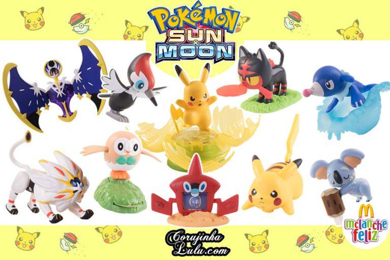Nova Coleção Pokémon Sun e Moon do Mc Donald's | Mc Lanche Feliz Dezembro 2017