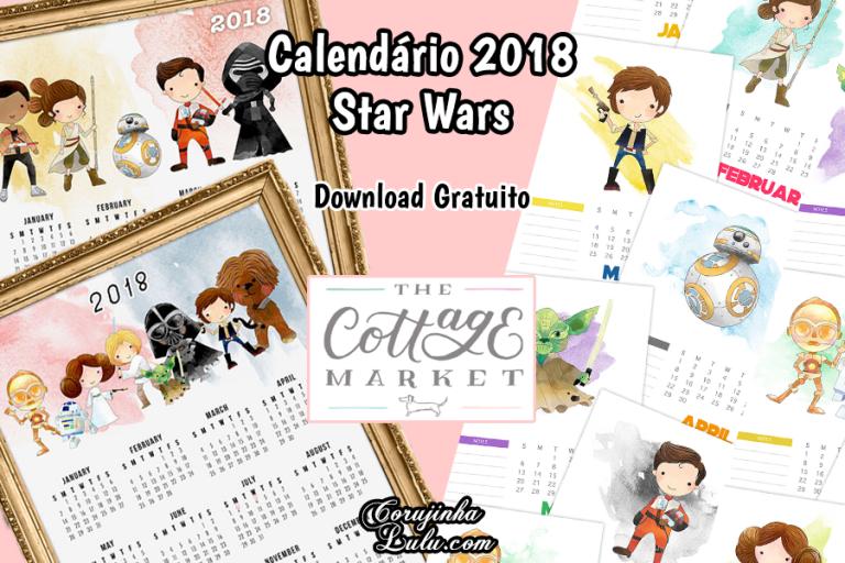 Planner e Calendário 2018 de Star Wars (Grátis)