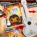 DIY Material Escolar – Como Fazer Estojo de Violão + Caderno Caveira Mexicana + Porta-treco com foto | Corujices da Lu Disney Pixar Viva – A Vida é uma Festa