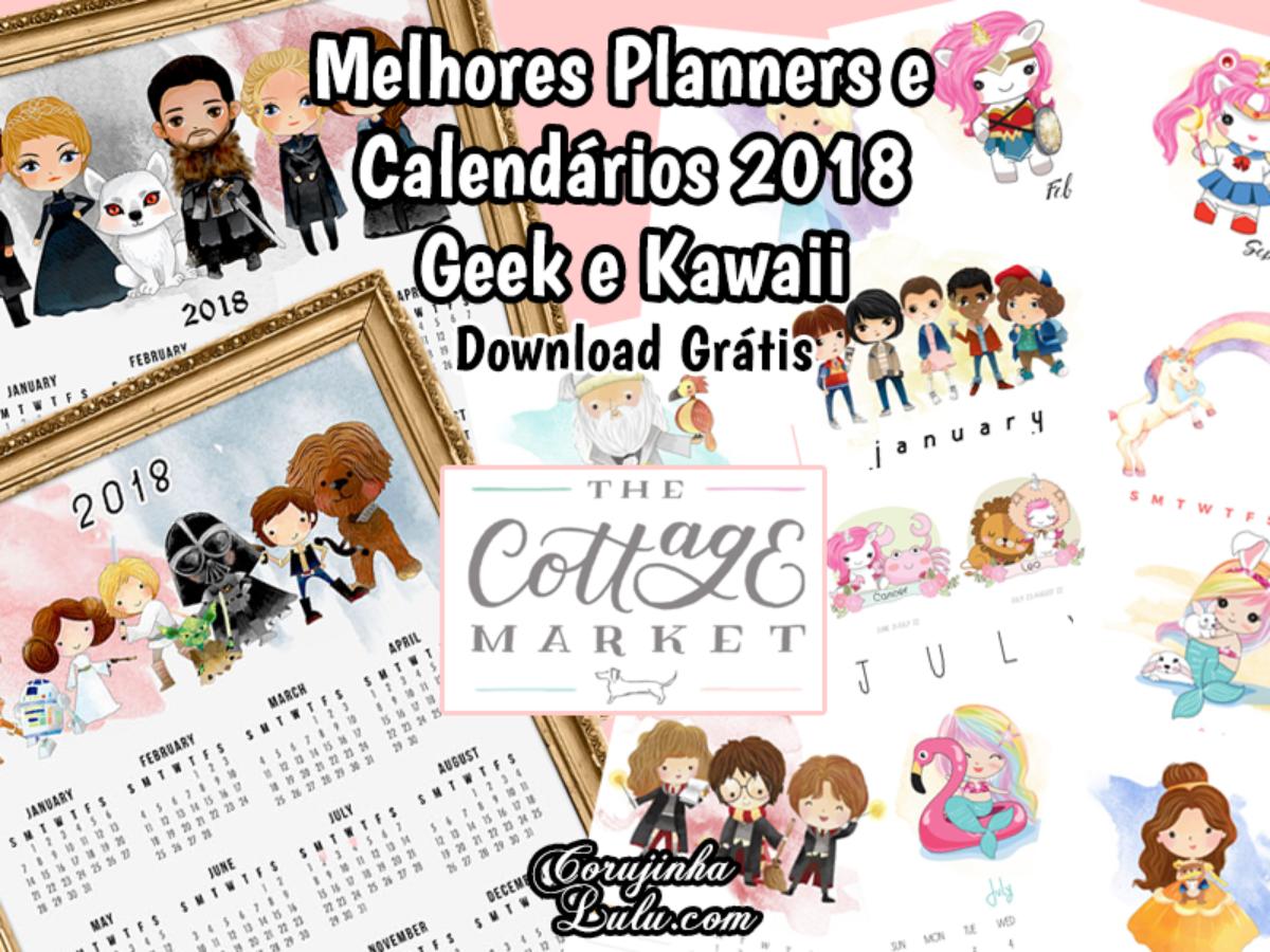 Os Melhores Planners Calendarios 2018 Download Gratis