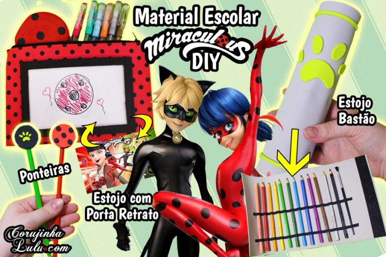 Diy Miraculous Ladybug 2 - Como Fazer Estojo Ladybug e Cat Noir - Material Escolar * Volta Às Aulas | Corujices da Lu