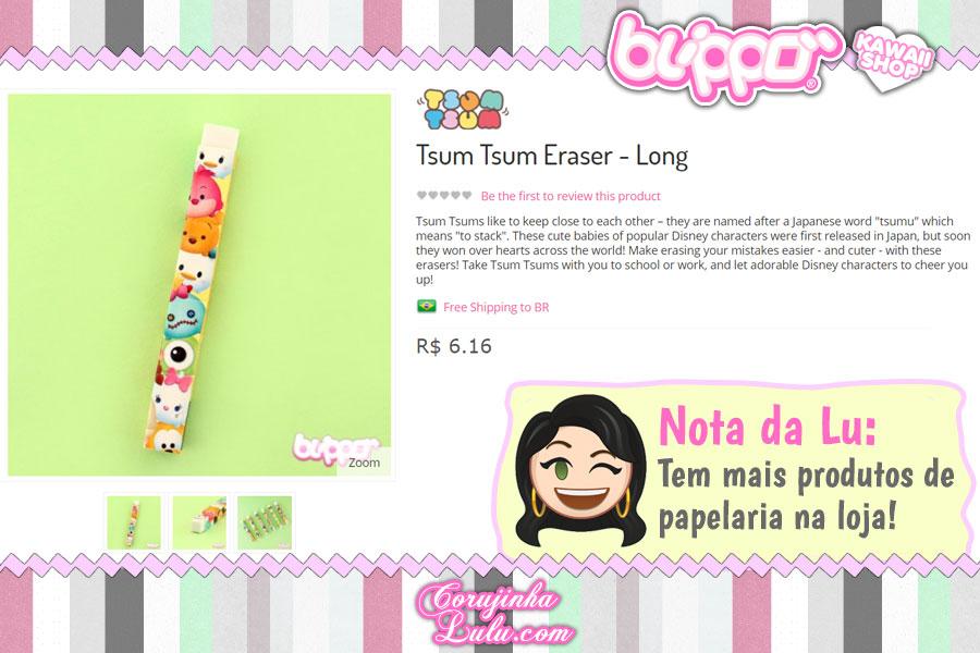 Tsum Tsum Eraser Long, borracha longa com os personagens Disney