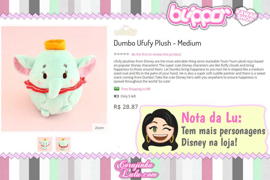 Dumbo Ufufy Plush, pelúcia média que tem cheirinho super gostoso!