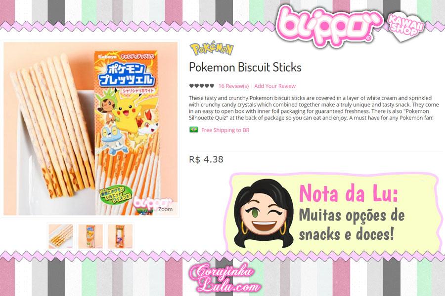 Pokémon Biscuit Sticks, snack tipo Pocky com Pikachu e cia
