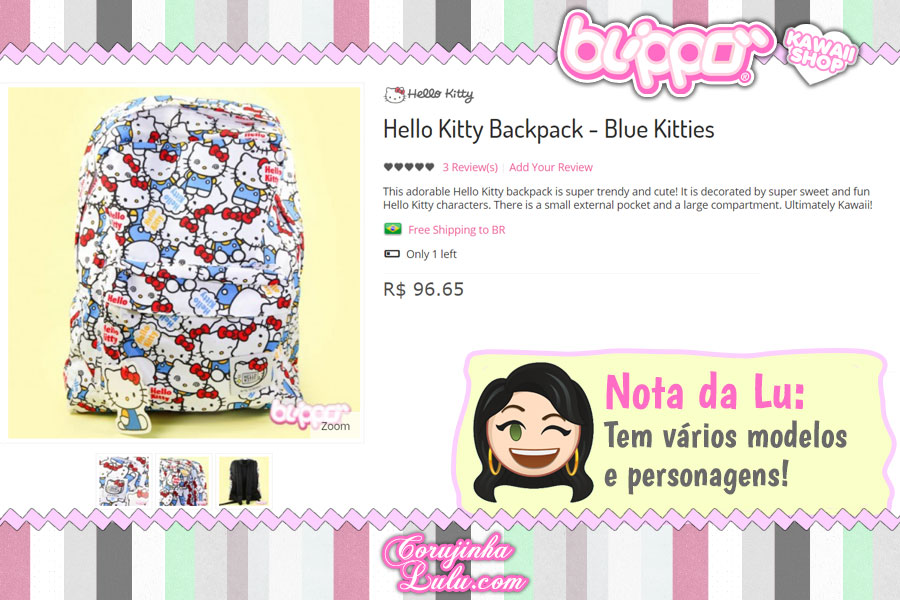 Hello Kitty Backpack, mochila da gatinha asiática mais famosa do mundo