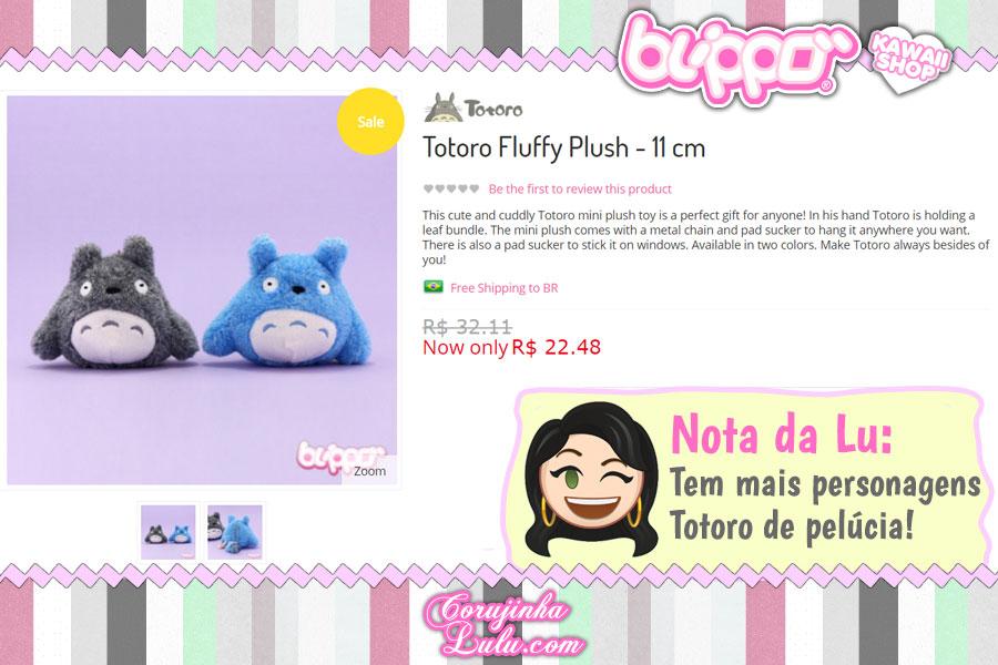 Totoro Fluffy Plush, pelúcia macia do Totoro