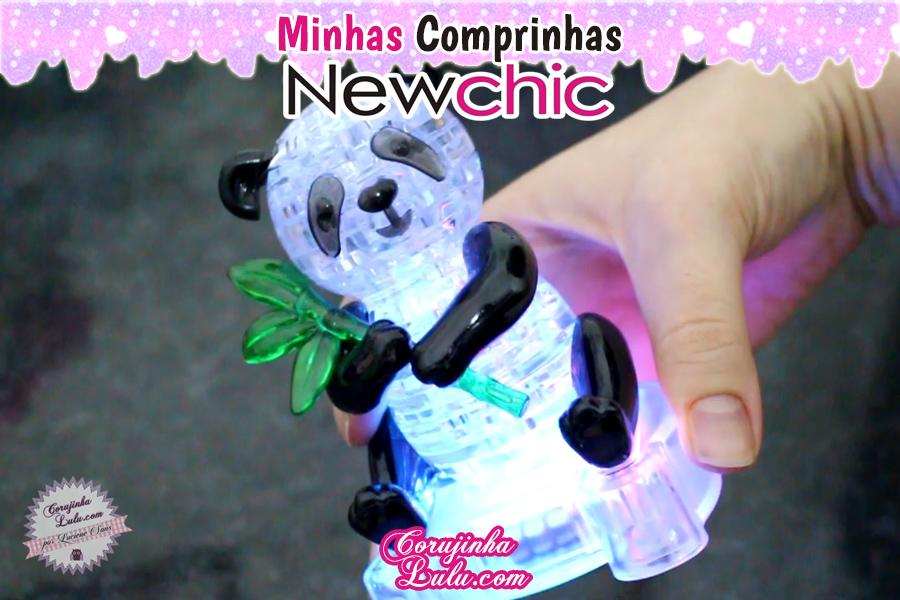Comprinhas Temáticas - Miraculous Ladybug + Disney Sou Luna + Star + Kawaii Newchic | ©CorujinhaLulu.com corujinha lulu corujinhalulu panda 3d puzzle quebra cabeça cristal