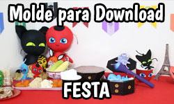 Diy Miraculous Como Fazer Brincadeiras + Festa da Ladybug, Cat Noir e Kwamis - Corujices da Lu | ©CorujinhaLulu.com corujinha lulu molde grátis pattern free