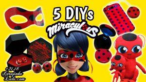 5 ideias de ladybug para fazer em casa - corujices da lu corujinhalulu corujinha lulu corujicesdalu miraculous prodigiosa diy manualidades faça você mesmo