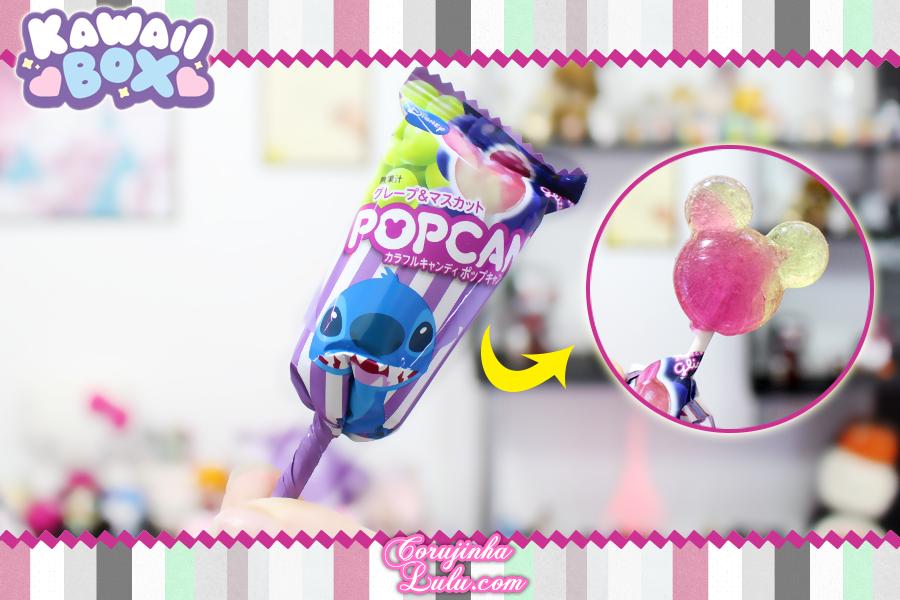 Review + Sorteio Kawaii Box Maio 2018 | ©CorujinhaLulu.com corujinhalulu corujinha lulu disney stitch pirulito popcan lollipop mickey