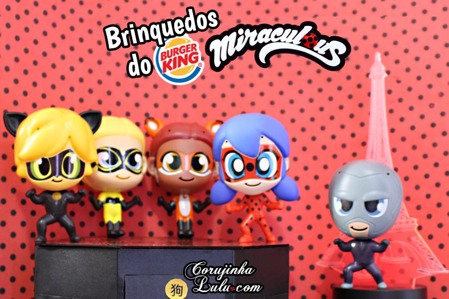 Coleção Miraculous Chibi – Brinquedos do Burguer King com 5 bonecos de Miraculous Ladybug | ©CorujinhaLulu.com cat noir chat noir gato hawk moth rena rouge queen bee