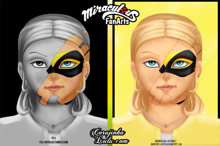 Chloé Bourgeois e Queen Bee - Fanart de Miraculous As Aventuras de Ladybug e Cat Noir - Parte 1 | ©CorujinhaLulu.com