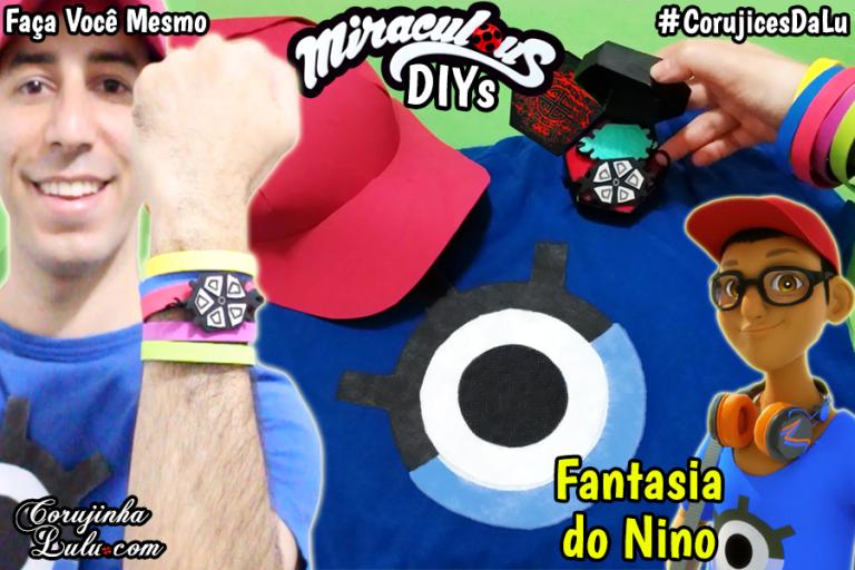 Anansi Miraculous Ladybug 2 DIY - Kit Nino / Carapace Fantasia com Miraculous da Tartaruga + Camisa + Boné e+ | Corujices Da Lu