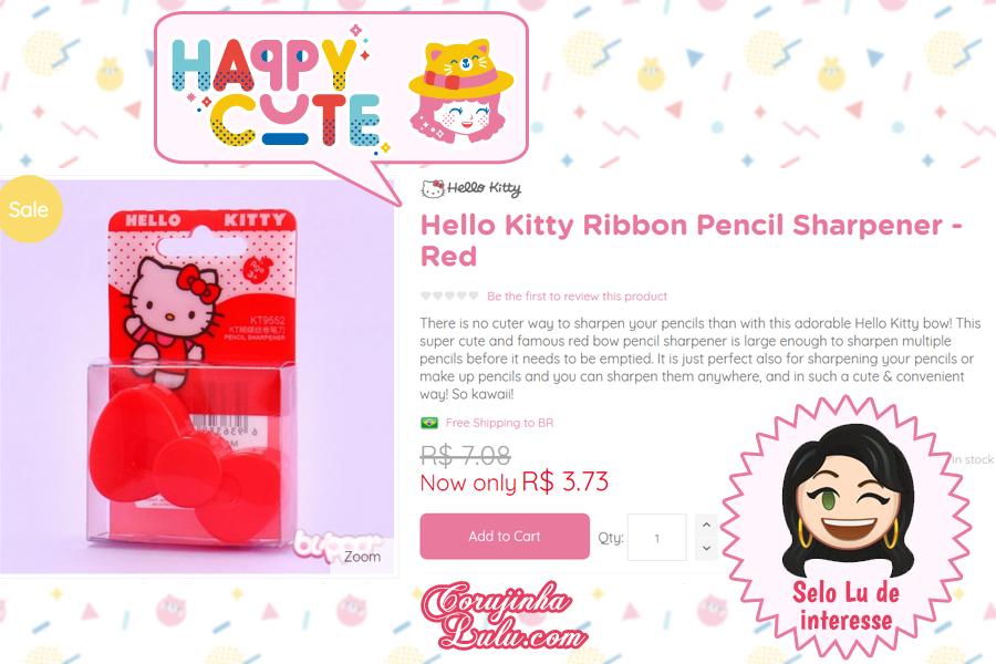 Apontador da Hello Kitty na Happy Cute Shop - mais uma Loja Super Kawaii com Frete Grátis | ©CorujinhaLulu.com