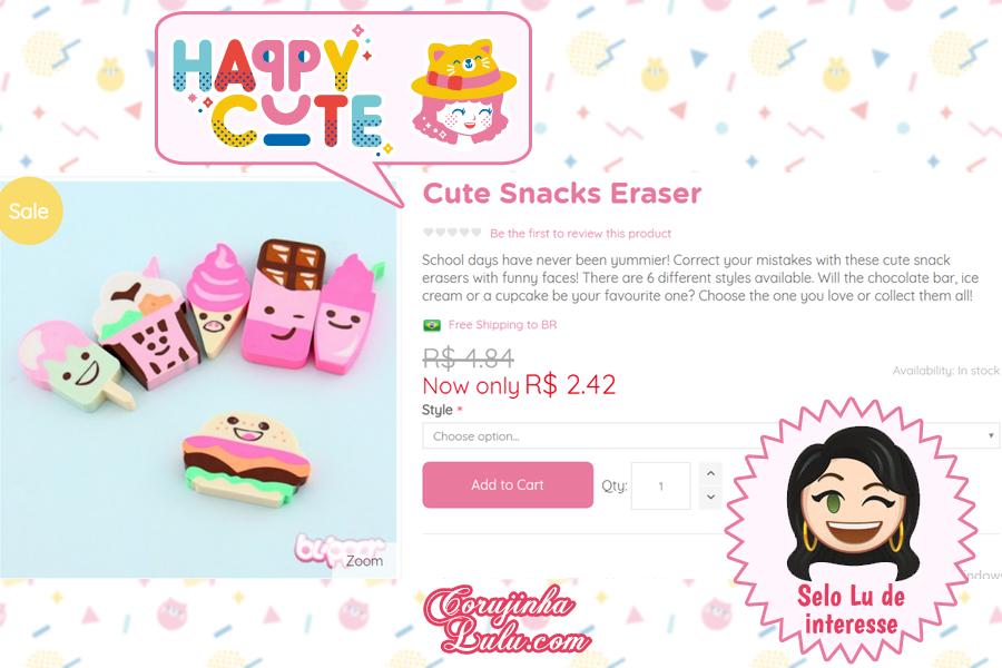 Borrachas Kawaii da Happy Cute Shop - mais uma Loja Super Kawaii com Frete Grátis | ©CorujinhaLulu.com