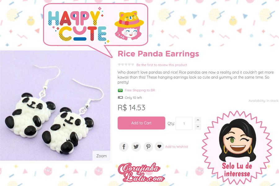 Brinco de Panda da Happy Cute Shop - mais uma Loja Super Kawaii com Frete Grátis | ©CorujinhaLulu.com