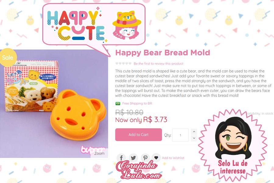 Molde de Urso Panda da Happy Cute Shop - mais uma Loja Super Kawaii com Frete Grátis | ©CorujinhaLulu.com