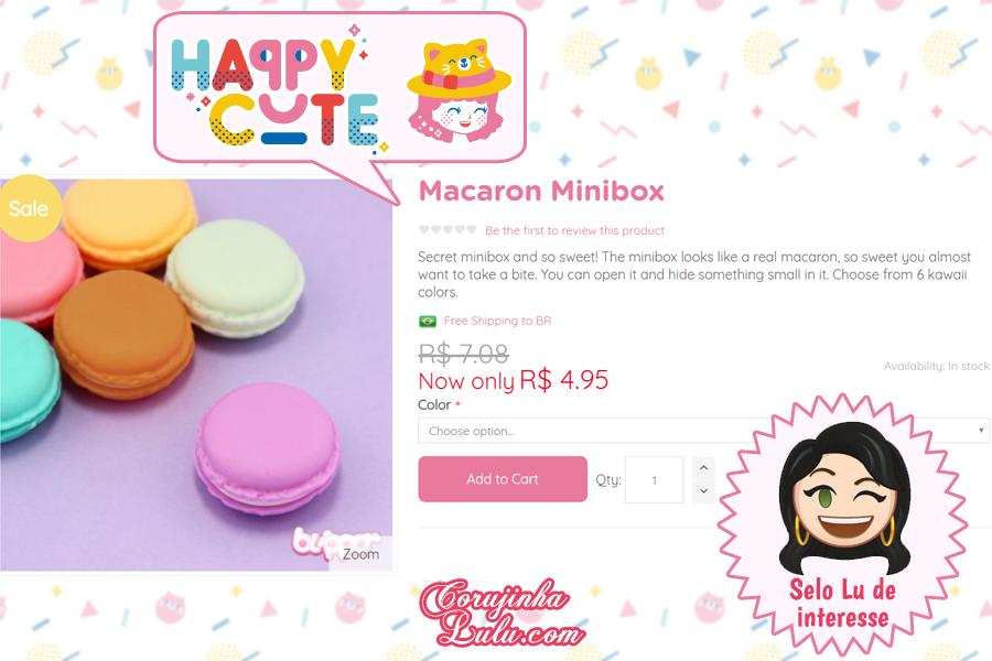 Macaron da Happy Cute Shop - mais uma Loja Super Kawaii com Frete Grátis | ©CorujinhaLulu.com