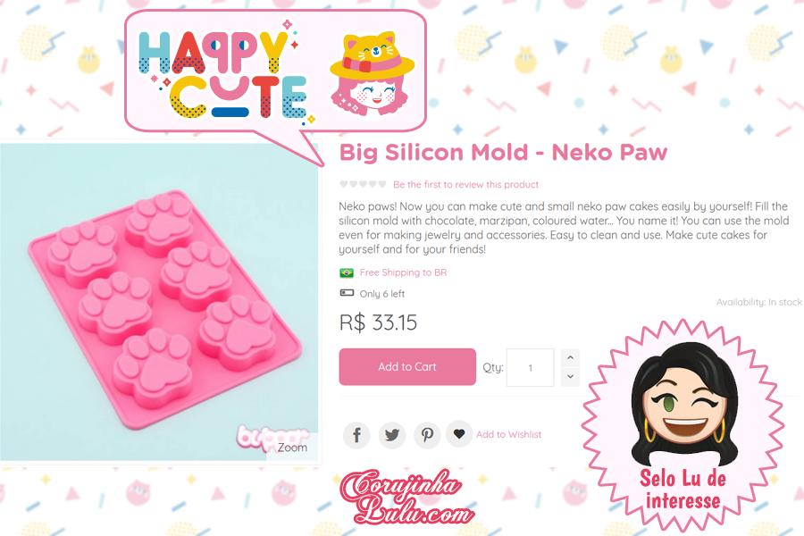 Molde de silicone de Patinha da Happy Cute Shop - mais uma Loja Super Kawaii com Frete Grátis | ©CorujinhaLulu.com