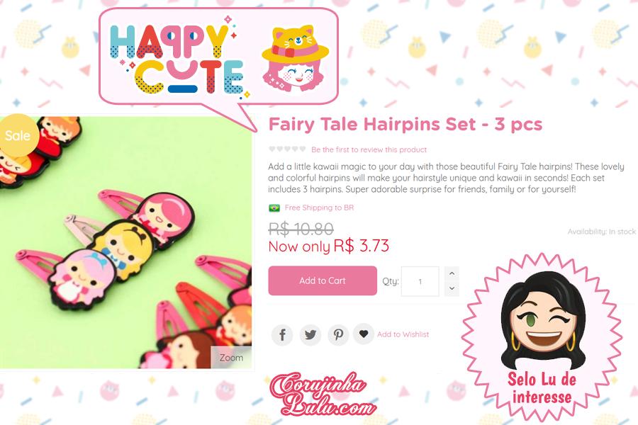Acessório de cabelo de Princesa da Happy Cute Shop - mais uma Loja Super Kawaii com Frete Grátis | ©CorujinhaLulu.com