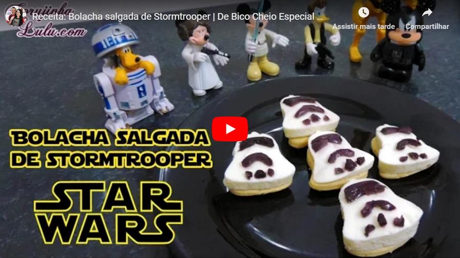 DIY Star Wars Bolacha salgada de Stormtrooper | Receita De Bico Cheio
