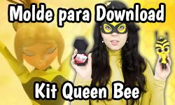 Download: Kit Queen Bee - Miraculous da Abelha + Máscara + Kwami Pollen (Miraculous As Aventuras de Ladybug) | ©CorujinhaLulu.com corujinha lulu corujinhalulu #Lukanette lukanette marinette faça você mesmo tutorial #diy