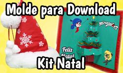 Download: Kit Especial de Natal - Miraculous Chibi (Miraculous As Aventuras de Ladybug) | ©CorujinhaLulu.com corujinha lulu corujinhalulu #Lukanette lukanette marinette faça você mesmo tutorial #diy