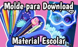 Download: Material Escolar Miraculous Ladybug - Kit Mayura Pavão | ©CorujinhaLulu.com corujinhalulu #Lukanette lukanette marinette faça você mesmo tutorial #diy