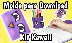 Download: Kit Volta as Aulas Kawaii - Material Escolar Corujinha Lulu  | ©CorujinhaLulu.com corujinhalulu #Lukanette lukanette marinette faça você mesmo tutorial #diy