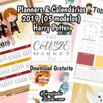 Planner e Calendário 2019 de Harry Potter (5 modelos Gratuitos)