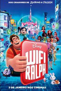 Poster nacional do filme WiFi Ralph Quebrando a Internet / Ralph Breaks the Internet pt-br brasil brazil corujinhalulu
