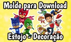 Download: Material Escolar que vira Brinquedo e Decoração de Festa - Patrulha Canina & PJ Masks | ©CorujinhaLulu.com corujinhalulu faça você mesmo tutorial #diy paw patrol