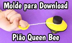 Download: Pião da Queen Bee (Miraculous As Aventuras de Ladybug e Cat Noir) | ©CorujinhaLulu.com corujinha lulu corujinhalulu #Lukanette lukanette marinette faça você mesmo tutorial #diy