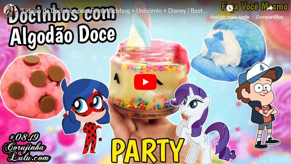 Assistir 3 ideias de Docinhos para Festa Ladybug + Unicórnio + Disney | Bastidores Receita De Bico Cheio | Corujinha Lulu | © CorujinhaLulu.com corujinhalulu #debicocheio