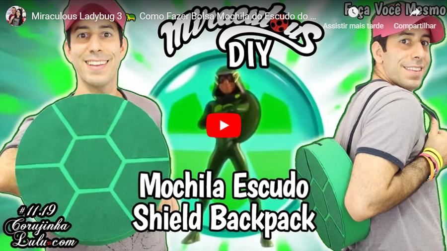 Assistir Miraculous Ladybug em português: 🐢 Como Fazer Bolsa Mochila do Escudo do Carapace DIY