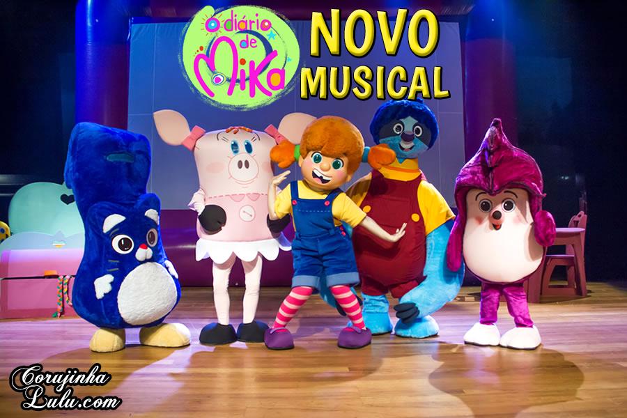 O Diário de Mika estreia novo musical no Teatro Morumbi Shopping | ©CorujinhaLulu.com corujinhalulu infantil juvenil pré-escolar animação brasileira nacional disney junior disney channel